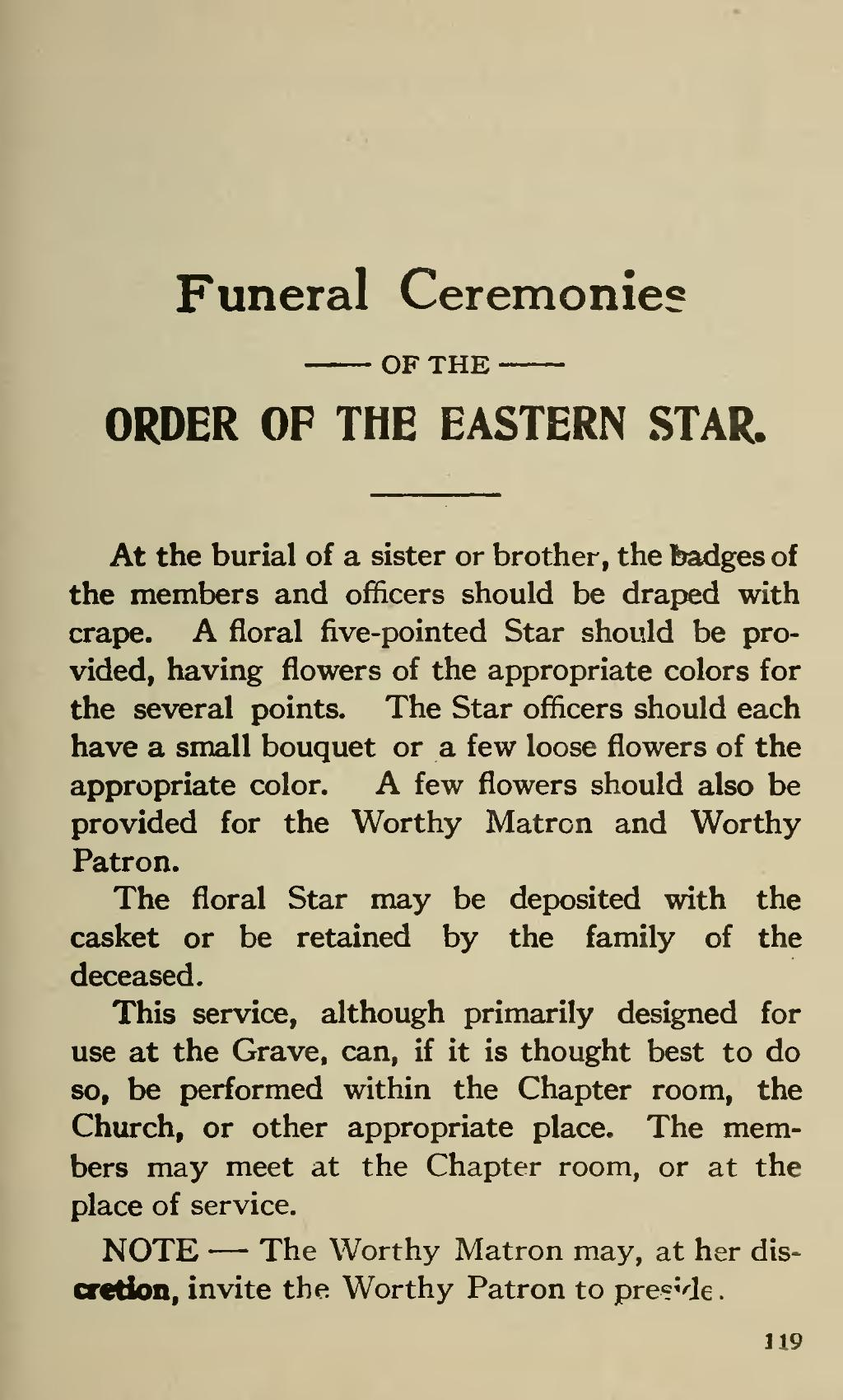 Page Ritual Of The Order Eastern Star 1921 Djvu 129