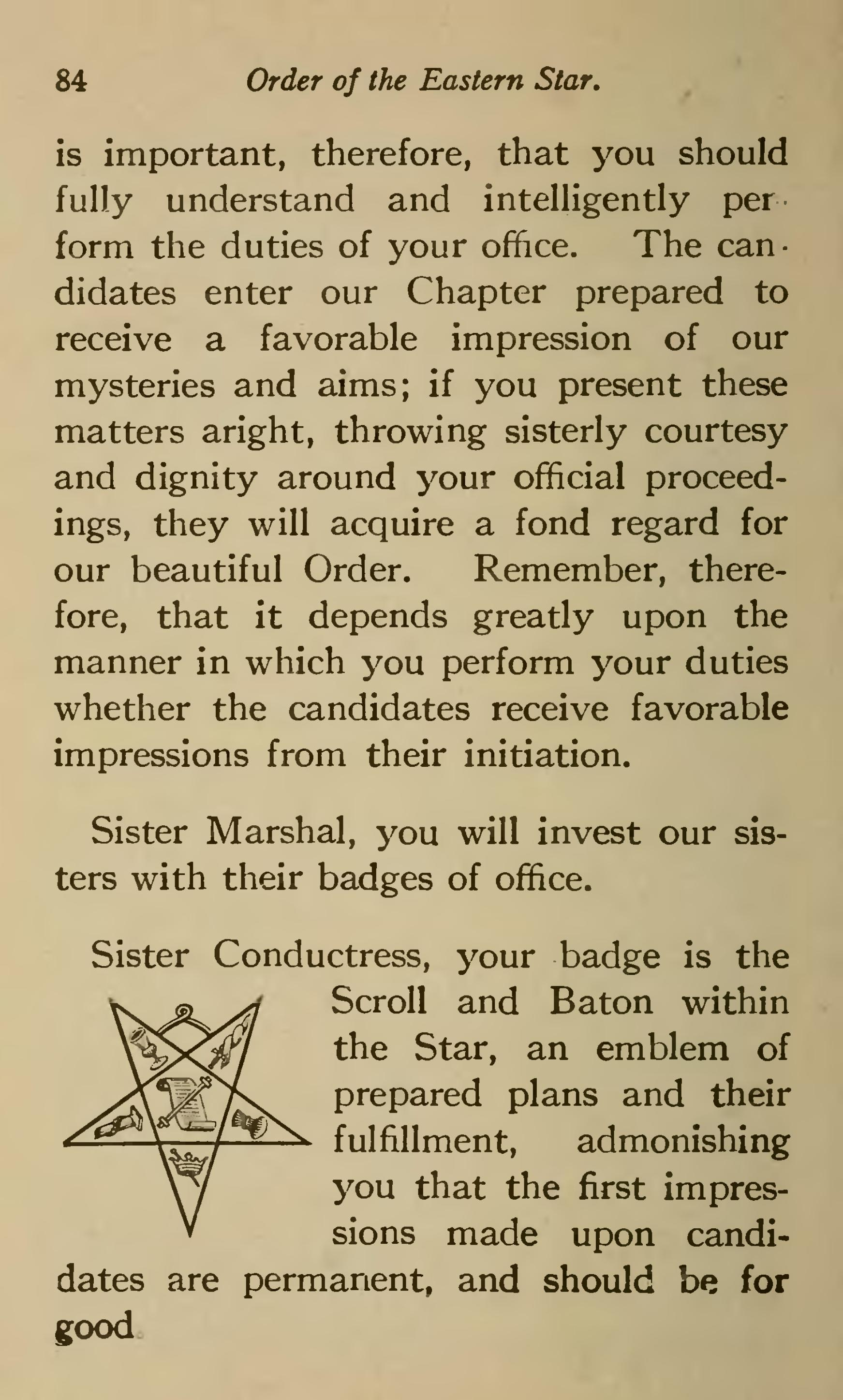 page ritual of the order eastern star  1921  djvu  94
