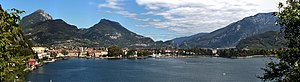 Riva del Garda - A panoramic image of the Riva del Garda's lakefront.