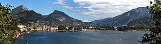 Riva del Garda - A panoramic image of the Riva del Garda's lakefront.