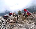 Road workers crushing rocks, Kullu, 2004.jpg