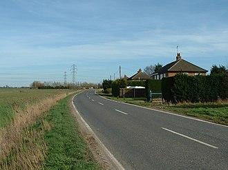 Tydd St Mary - Image: Roadside houses, B1165 near Tydd St Mary. geograph.org.uk 361870