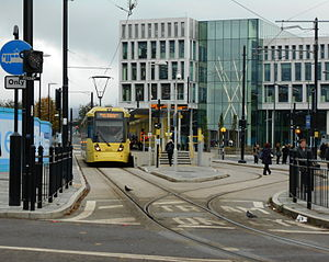 Rochdale Town Centre tram stop - Rochdale Town Centre tram stop in October 2014