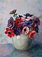 Rode en paarse papaver door Henri Minderop.jpg
