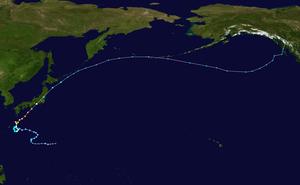 Typhoon Roke (2011) - Image: Roke 2011 track
