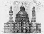 Diseño de Sangallo.  Basílica de San Pedro Vaticano