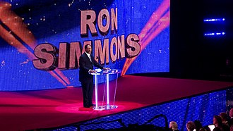 Ron Simmons - Ron Simmons being inducted into the WWE Hall of Fame in 2012