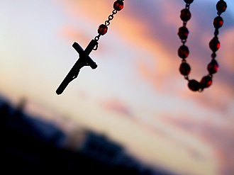 Rosary - The crucifix on a rosary.