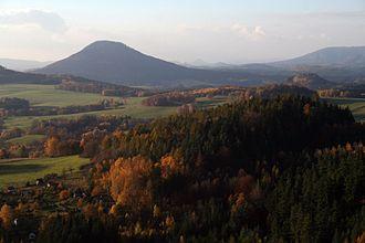 Růžovský vrch - Růžovský vrch (Rosenberg), seen from the Noldenberg