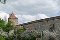 Rothenburg ob der Tauber, Stadtmauer, Klingenschütt, Feldseite, 002.jpg