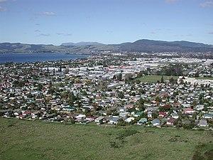 Rotorua - Image: Rotorua from gondola