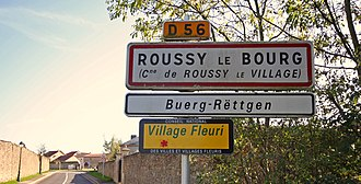 Lorraine Franconian - Image: Roussy le Bourg