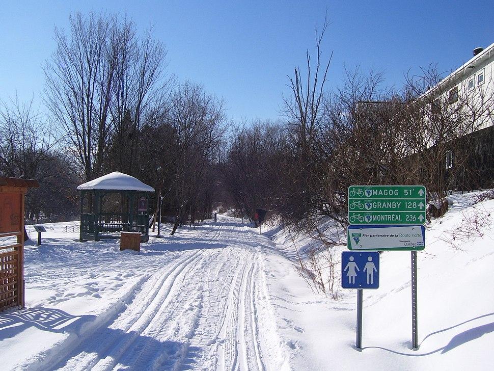 Route Verte 1 at Lennoxville