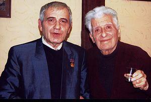 Edvard Mirzoyan - Edvard Mirzoyan (right) with the composer Ruben Sarkisyan in 2011.