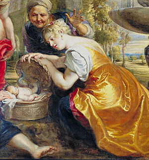 Auriga (constellation) - A painting by Peter Paul Rubens entitled Finding of Erichthonius; Erichthonius and Auriga are often associated.