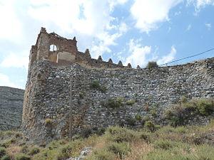 Zafadola - Ruins of the walls of Rueda de Jalón