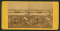 Ruins of Chicago - Clark Street bridge, looking north across the river, from Robert N. Dennis collection of stereoscopic views.png