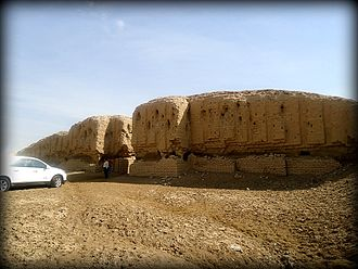 Kish (Sumer) - Ruins of a ziggurat at the Sumerian city of Kish. Babel Governorate, Iraq.