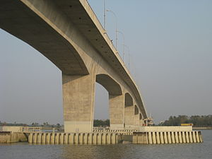 Port of Mongla - Rupsha Bridge connects Khulna and Mongla