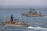 Russian cruiser Marshal Ustinov and HMS St Albans MOD 45165084.jpg