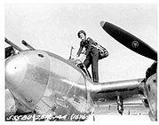 Ruth Dailey with P-38