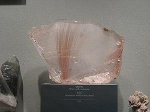 Rutile - Rutile in quartz