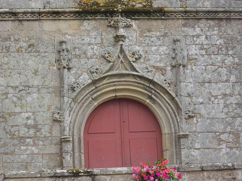 Saint Peter church of Sérent (Morbihan, France). Portal