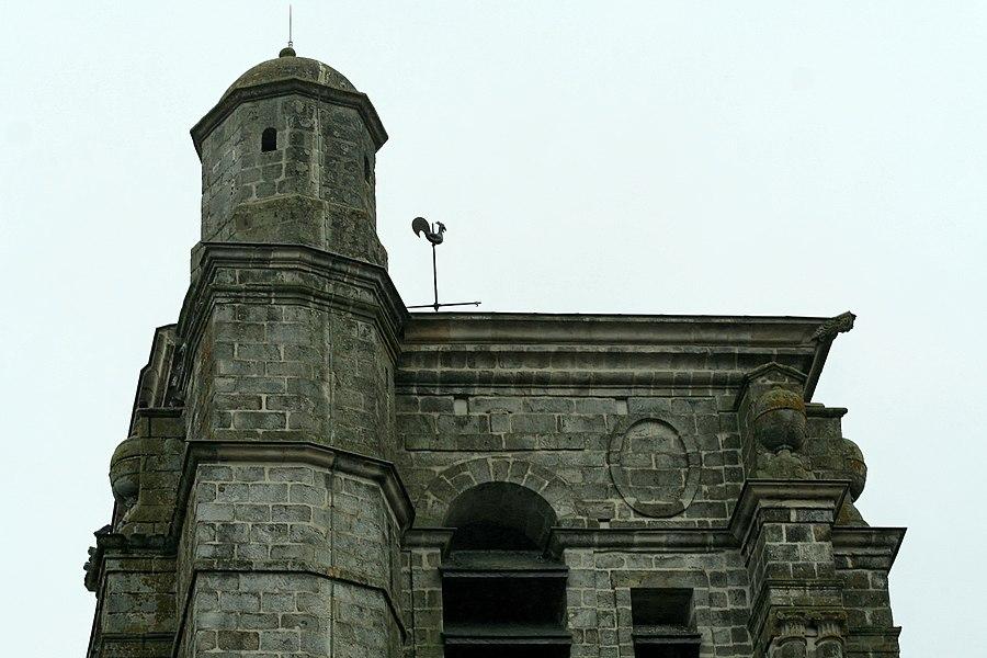 Église Saint-Denis de Sézanne (Marne). Tourelle d'escalier du clocher (côté nord).