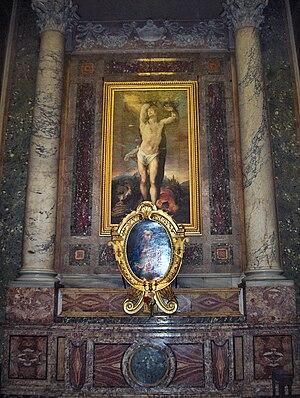 """Giovanni de' Vecchi - """"Saint Sebastian"""" (1614); church Sant'Andrea della Valle, Rome"""