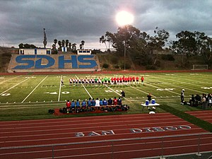 San Diego Flash - Final exhibition of 2010 at Balboa stadium v Chivas USA