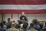 SECNAV holds an all-hands call at Naval Air Station Sigonella. (30494589734).jpg