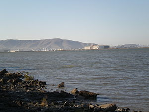 San Francisco Bay near Burlingame, California....