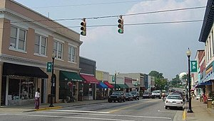 National Register of Historic Places listings in Wake County, North Carolina - Image: SI Apex NC Downtown