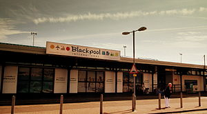 Blackpool Airport - The terminal building in 2012 before the airport lost its scheduled services