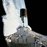 STS-7 Anik C2 deployment