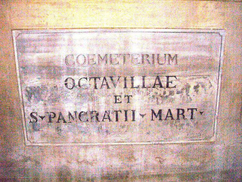 File:S Pancrazio - coemeterium octavillae et s cti Pancratii mart P1080305.jpg