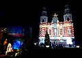 Sacred Heart Cathedral in New Delhi is fully decked up on the eve of Christmas, on December 24, 2007.jpg