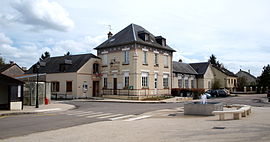 The town hall in Saint-Escobille