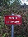 Saint-Just-d'Avray - Chemin de Longeval - Plaque (sept 2018).jpg