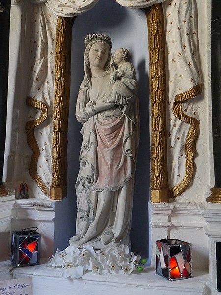 Statue de la Vierge (autel de la Vierge).