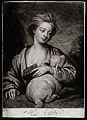 Saint Agnes. Mezzotint by J. Smith, 1716, after Sir G. Knell Wellcome V0031505.jpg