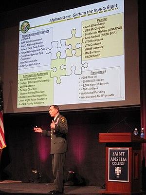 English: General David Petraeus at Saint Ansel...