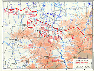 Operation Cobra - German dispositions, night of 24–25 July 1944