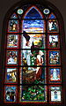 Saint Matthew the Apostle Church (Gahanna, Ohio) - stained glass, Angel with the women at the tomb.JPG