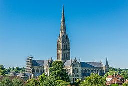 Salisbury Cathedral from Old George Mall.jpg