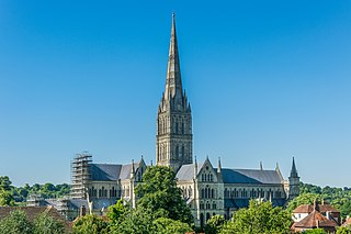 Salisbury Cathedral city in Wiltshire, England