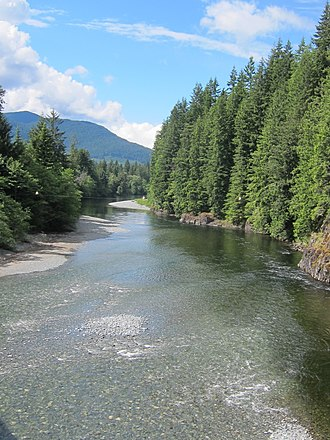 Salmon River (Vancouver Island) - The Salmon River near Sayward, British Columbia