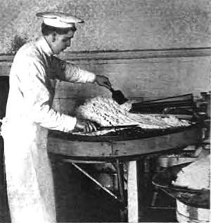 Dairy salt - Salting butter at Briarcliff Farms in Briarcliff Manor, New York, 1906
