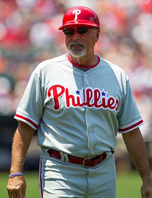 Sam Perlozzo - Perlozzo as Phillies first base coach, 2012