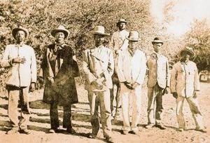Samuel Maharero - Herero chief Samuel Maharero (third from left)